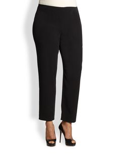 Eileen Fisher, Sizes 14-24 Silk Slim Pants