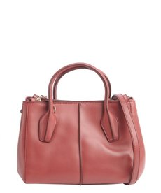 Tod's soft rose leather 'D-Styling' small tote