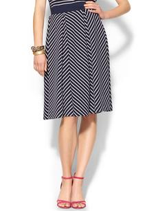 French Connection Fast Suki Stripe Skirt