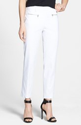 Kenneth Cole New York 'Alison' Zip Pocket Slim Pants (Petite)