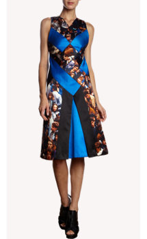 Proenza Schouler Crowd-Print Sleeveless Dress