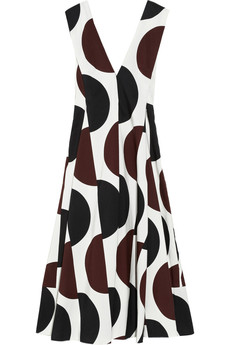 Marni Printed cotton-blend dress