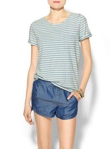 Splendid Indigo Dye Light Venice Stripe Tee