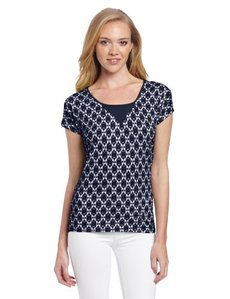 Lucky Brand Women's Carina Ikat Top