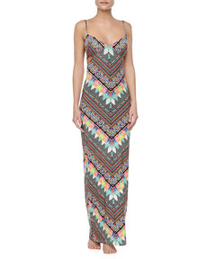 Mara Hoffman Printed Cutout Jersey Maxi Dress