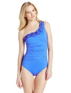Kenneth Cole New York Women's Haute Wave One-Shoulder Swimsuit
