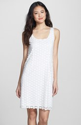 Laundry by Shelli Segal Appliqué Mesh Tank Dress