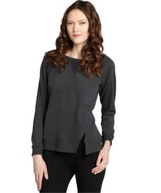 Marc New York grey cotton stretch split seam pullover
