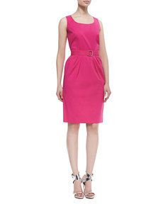 Lafayette 148 New York Mia Sleeveless Belted Dress
