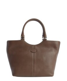 Tod's brown leather top handle tote