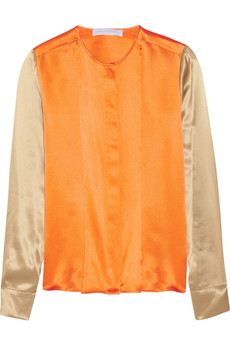 Stella McCartney Color-block silk top