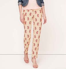 Petite Paisley Print Ankle Pants in Marisa Fit
