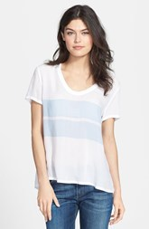 James Perse Stripe Scoop Neck Tee