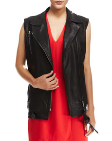 J Brand Ready to Wear Hubbard Long Leather Vest