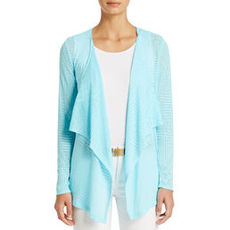 Drape Front Cardigan with Long Sleeves