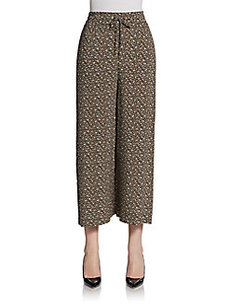 Ellen Tracy Wide-Leg Drawstring Pants