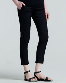 Jil Sander Pier Straight-Leg Ankle Pants, Black