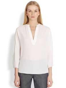 Michael Kors Silk Dolman Sleeve Blouse