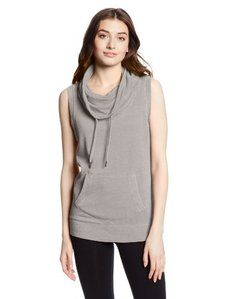 Calvin Klein Performance Women's Distressed Fleece Cowl Neck Top