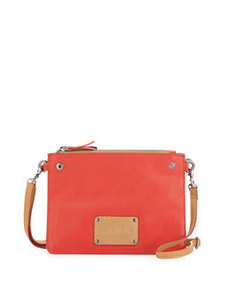 L.A.M.B. Bea Accordion-Style Snap Crossbody, Red