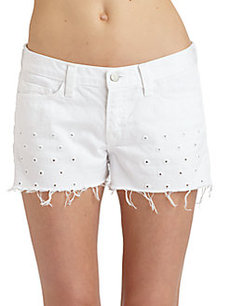 J Brand Moto Eyelet Cut-Off Shorts