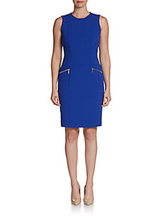 Calvin Klein Zipper Pocket Sheath Dress