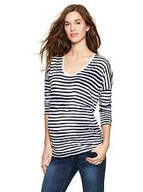 Striped cocoon T