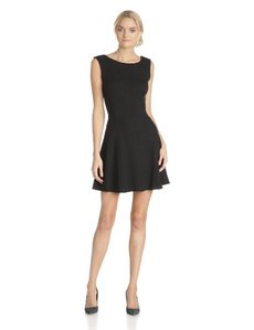 Three Dots Women's Sleeveless Dress with Deep Back Scoop Neck