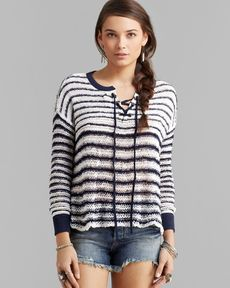Free People Pullover - Lace Up