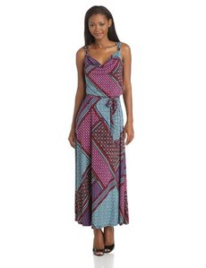 Calvin Klein Women's Cowl Maxi Dress with Hardware