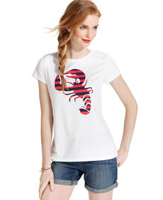 Tommy Hilfiger Short-Sleeve Striped Lobster Tee