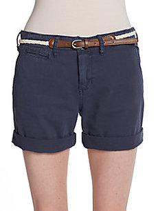 Saks Fifth Avenue BLUE Liberty Rolled-Cuff Shorts