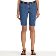Denim Bermuda Shorts (Plus)