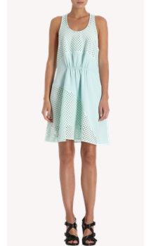 3.1 Phillip Lim Laser Cut Perforated A-Line Dress