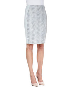 Kelsa Snake Jacquard Pencil Skirt   Kelsa Snake Jacquard Pencil Skirt