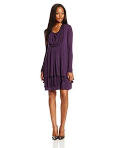 Kensie Women's Long Sleeve Sheer Dress