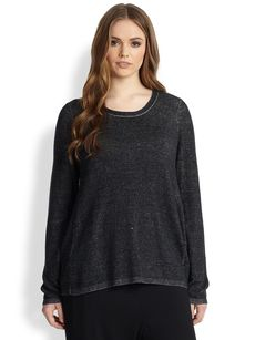 Eileen Fisher, Sizes 14-24 Scoopneck Tunic