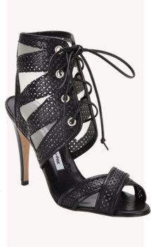 Manolo Blahnik Vestalabar Perforated-leather Cutout Sandal