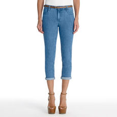 Cuffed Denim Capris
