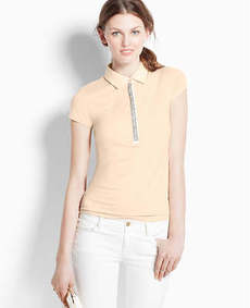 Jeweled Short Sleeve Polo