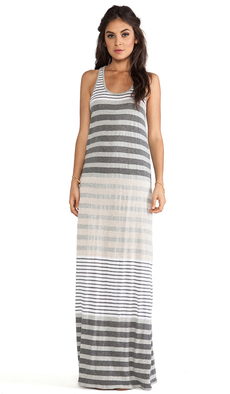 Michael Stars Sleeveless Racerback Maxi Dress in Gray