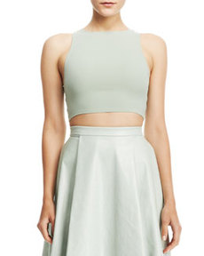 Silk/Lace Crop Top   Silk/Lace Crop Top