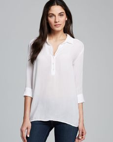 James Perse Polo Tunic - Chiffon