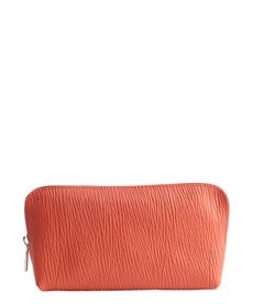 Furla papaya leather large cosmetic case