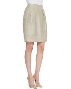 Lafayette 148 New York Jackie Pleated Silk Skirt
