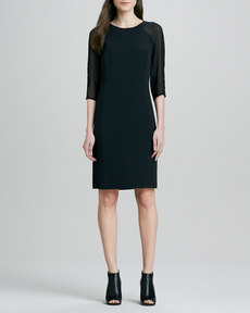 J Brand Ready to Wear Anne Sheer-Sleeve Dress