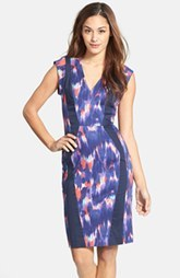 French Connection Print Cotton Blend Woven Sheath Dress