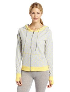 Steve Madden Women's French Terry Zip Up Hoodie