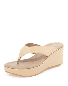 Donald J Pliner Shane Patent Leather Sandal, Nude
