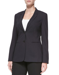 Escada Bulca Two-Button Blazer, Navy